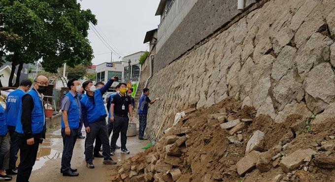 남양주 다산1동, 주택가 축대·옹벽 안점점검