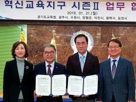평택시-경기도 교육청 혁신교육지구 업무협약