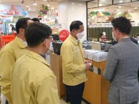 이재준 시장, 푸드코트 방역관리 현장점검