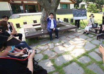 백군기 용인시장, '청년 김대건길' 소통